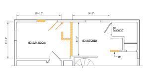 Floorplan - existing conditions and demo plan