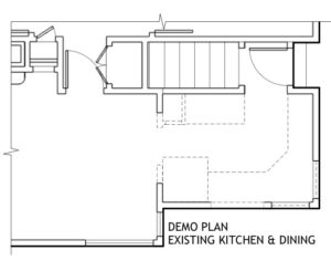Floorplan showing existing conditions